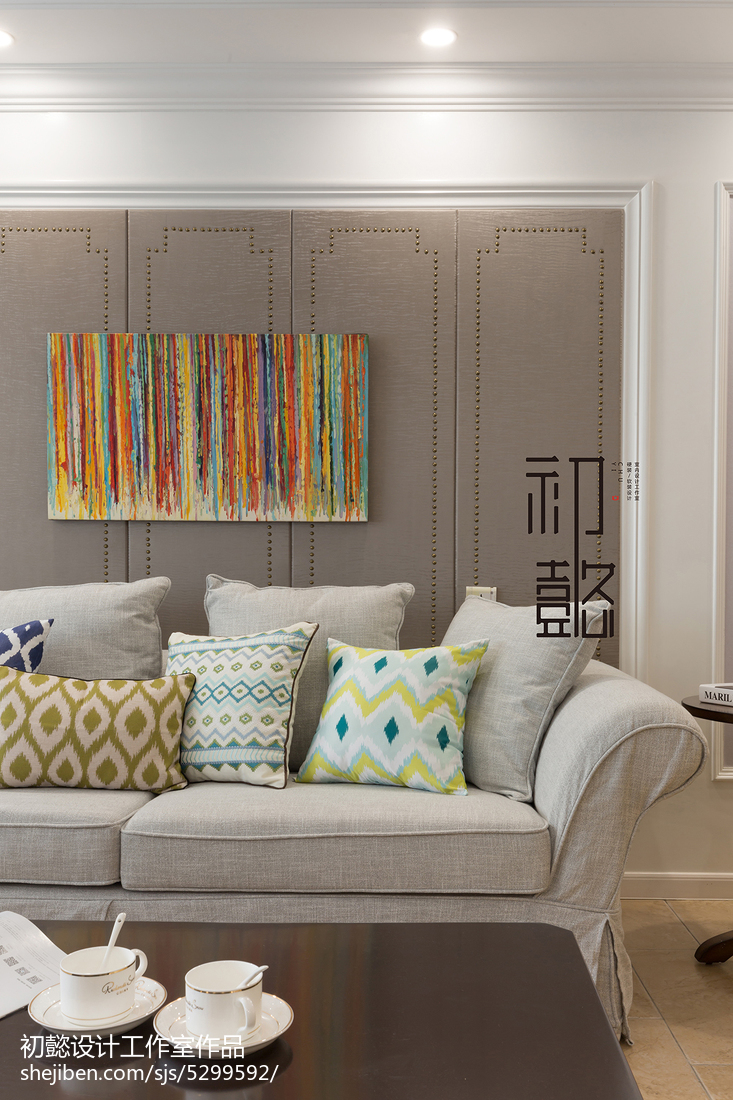2018大小130平美式四居客厅装修效果图片