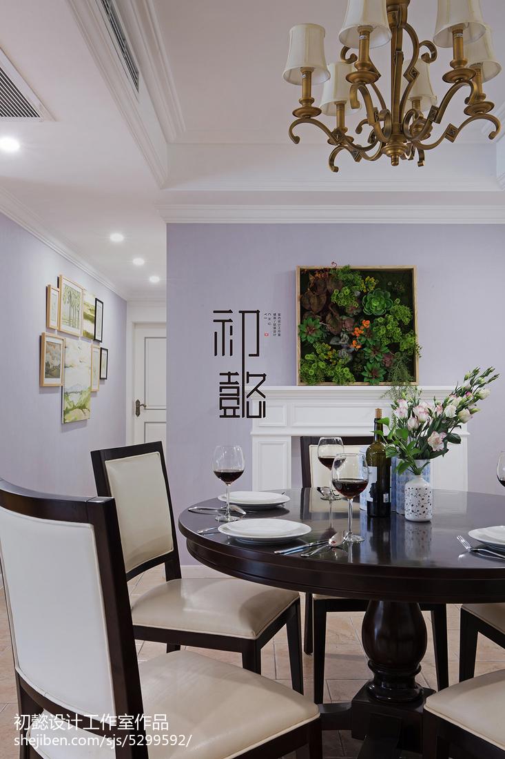精美142平米四居餐厅美式效果图