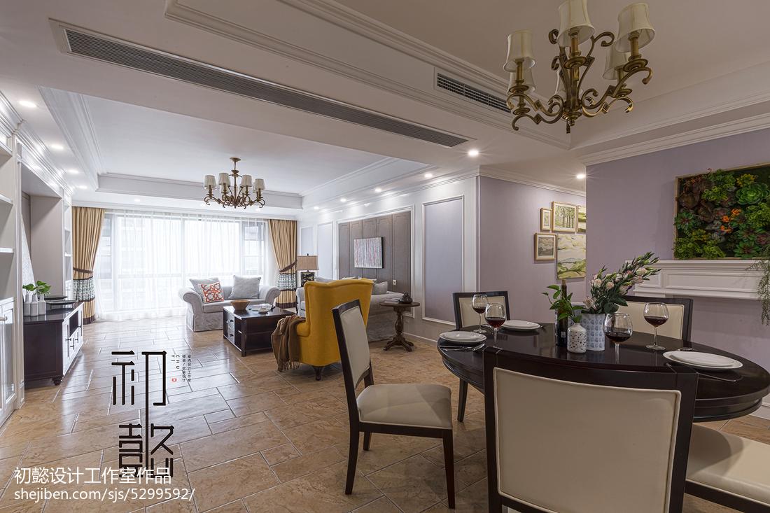 2018精选面积132平美式四居餐厅装修设计效果图