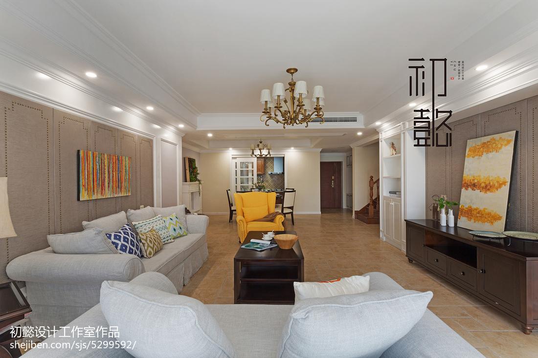 精选127平米四居客厅美式效果图