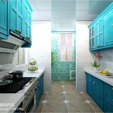 面积103平现代三居厨房装修欣赏图片