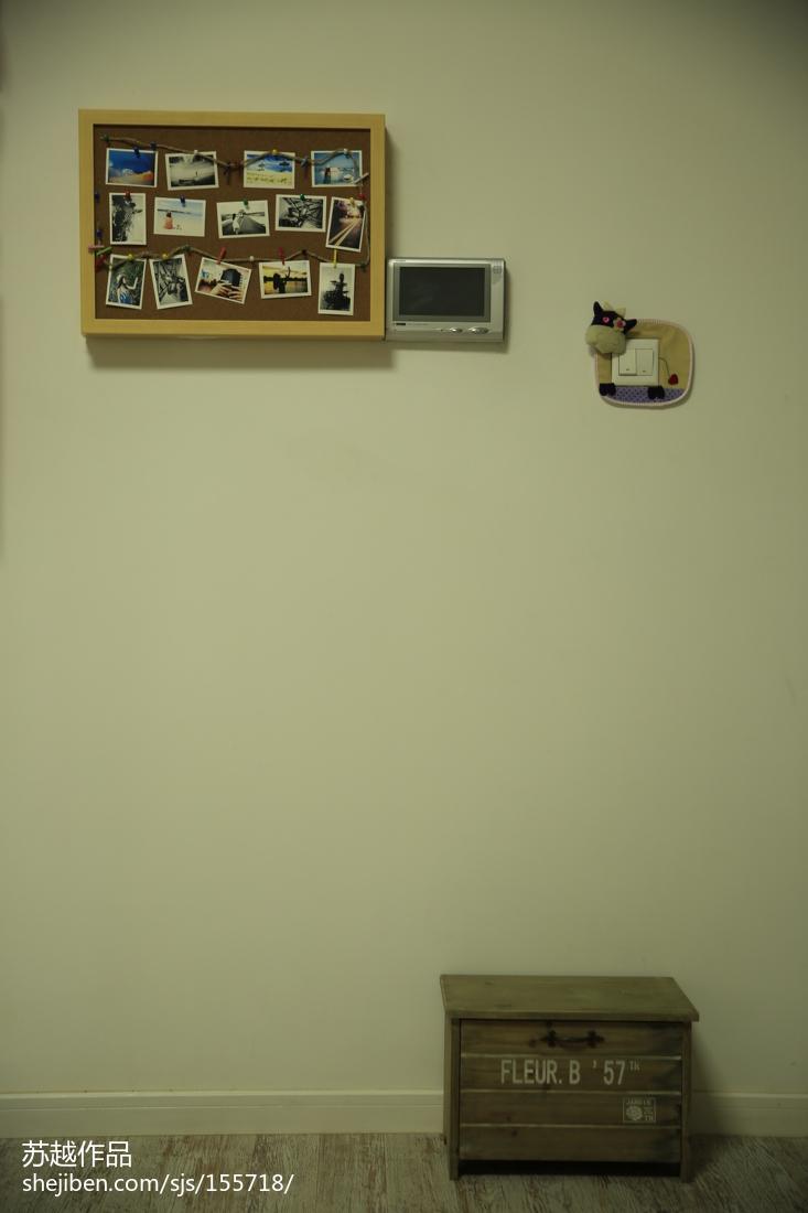 質樸49平北歐復式客廳設計效果圖