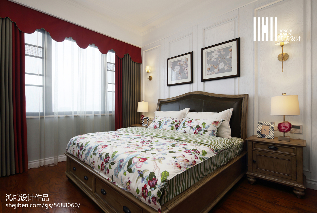 2018精选复式卧室美式装修设计效果图片大全