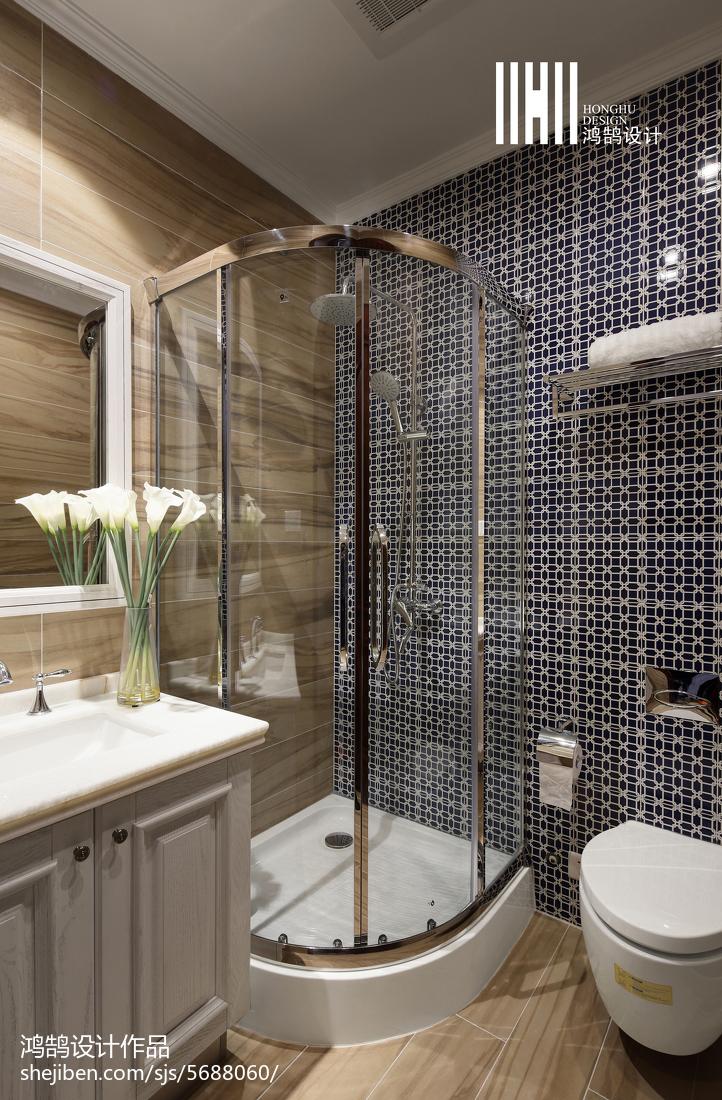 精美面积119平复式卫生间美式设计效果图
