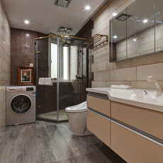 123平米现代别墅卫生间装修效果图片欣赏