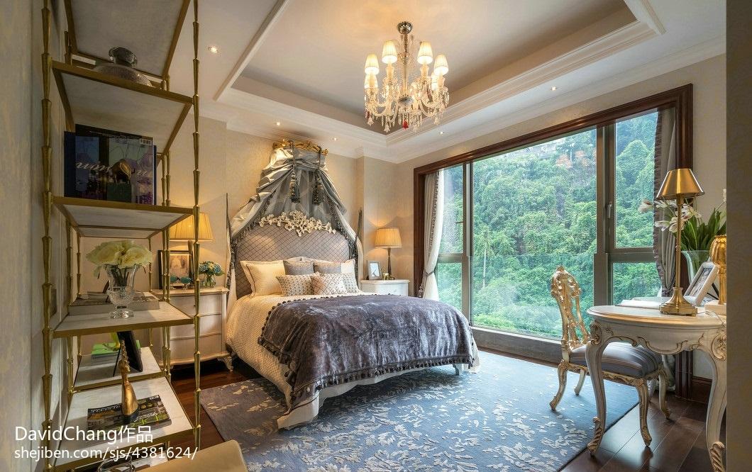 精美欧式卧室实景图