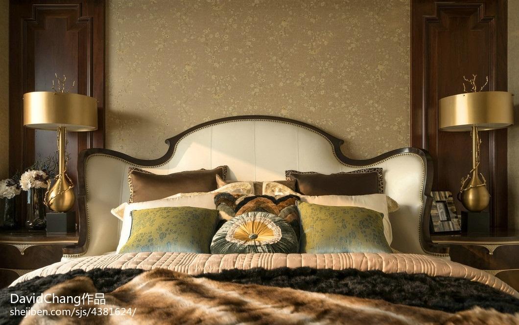 质朴342平欧式样板间卧室设计案例