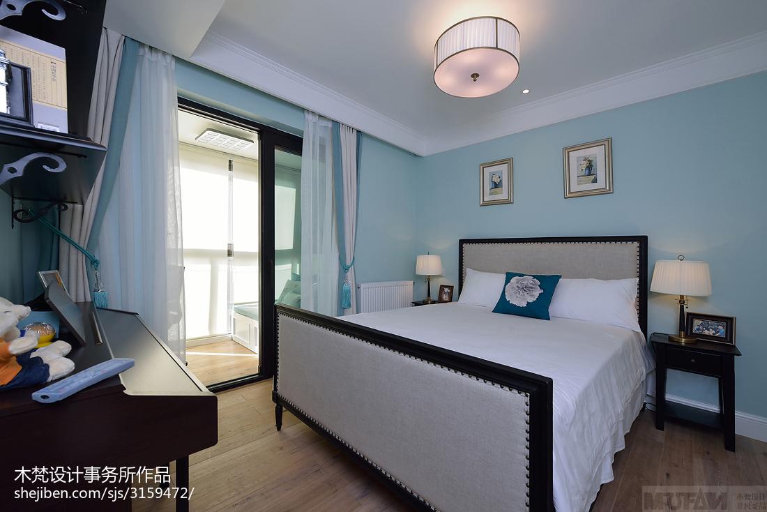 2018精选79平米二居卧室美式装修设计效果图片大全