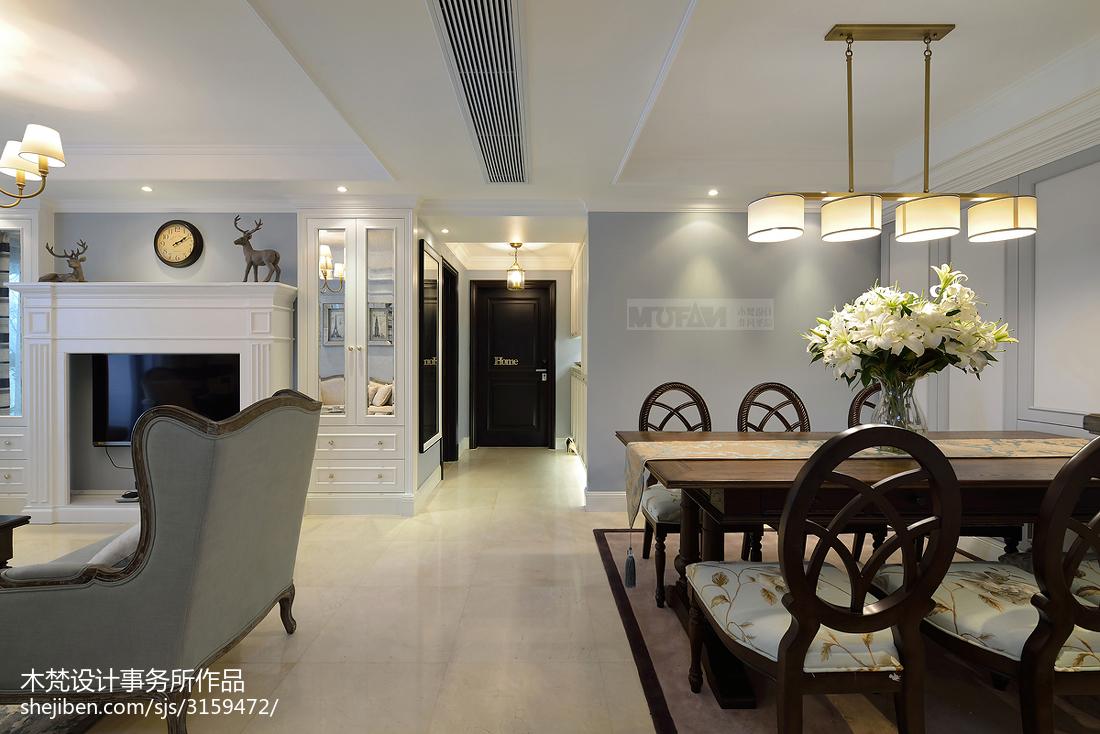 201878平米二居客厅美式装修设计效果图片欣赏