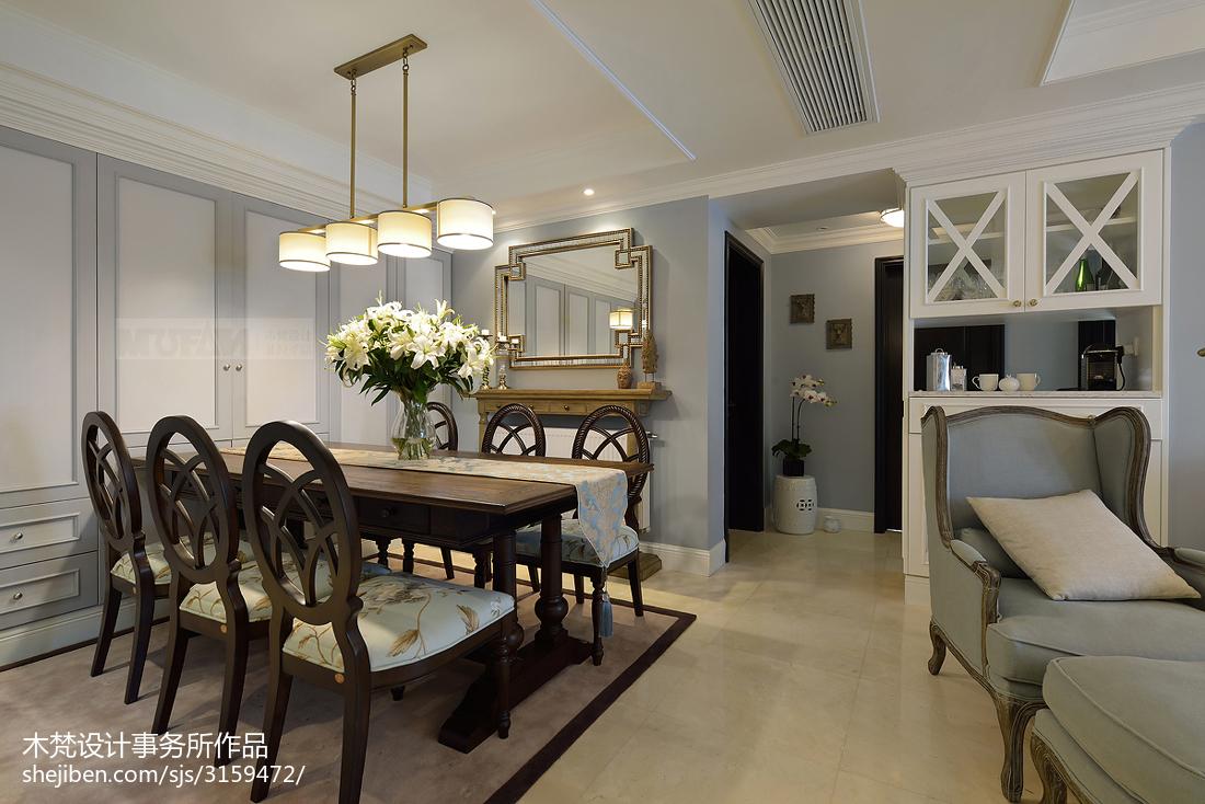 精美面积88平美式二居餐厅装修效果图片大全