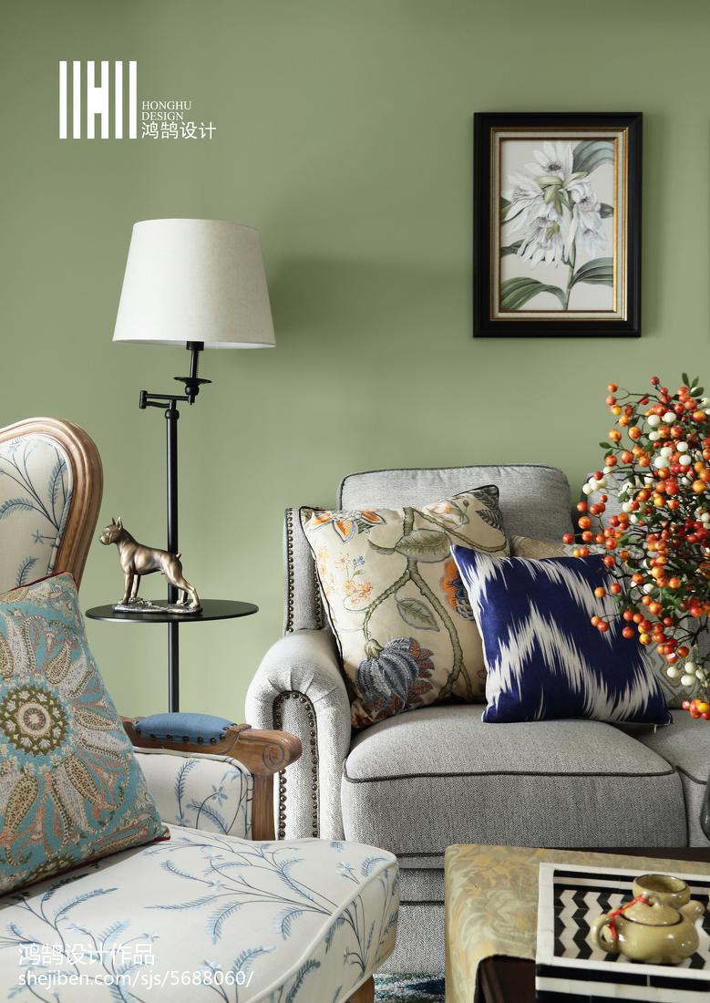 热门99平米三居客厅美式装饰图片