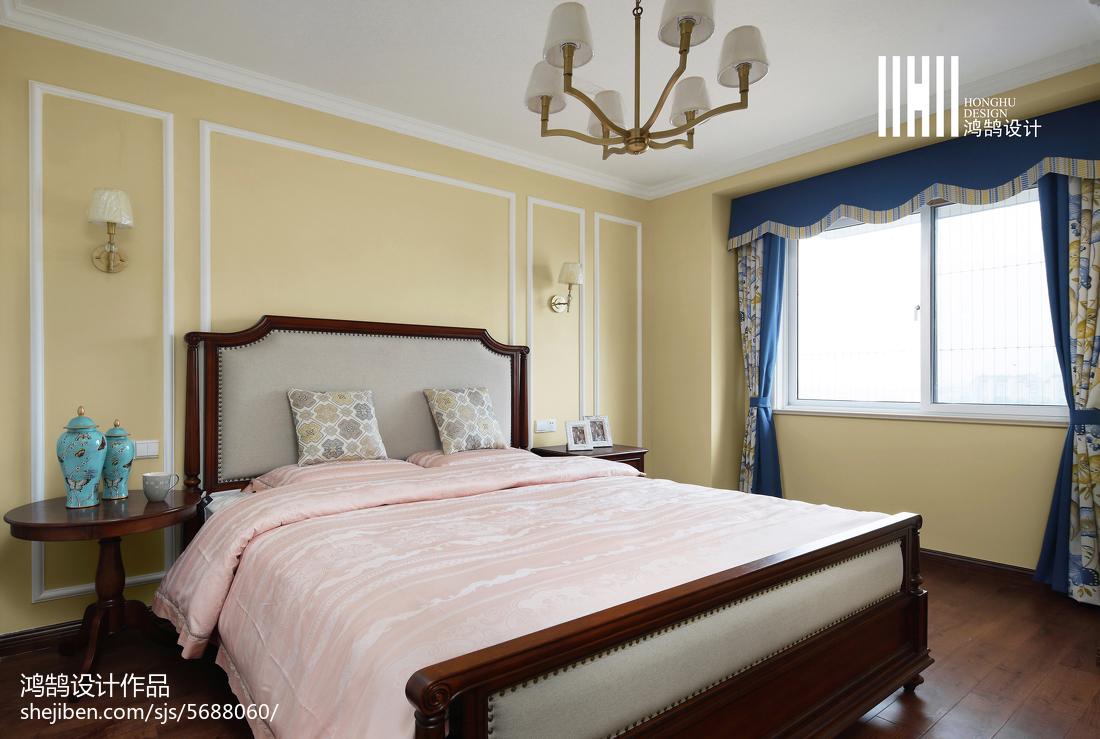 2018精选面积109平美式三居卧室装修欣赏图