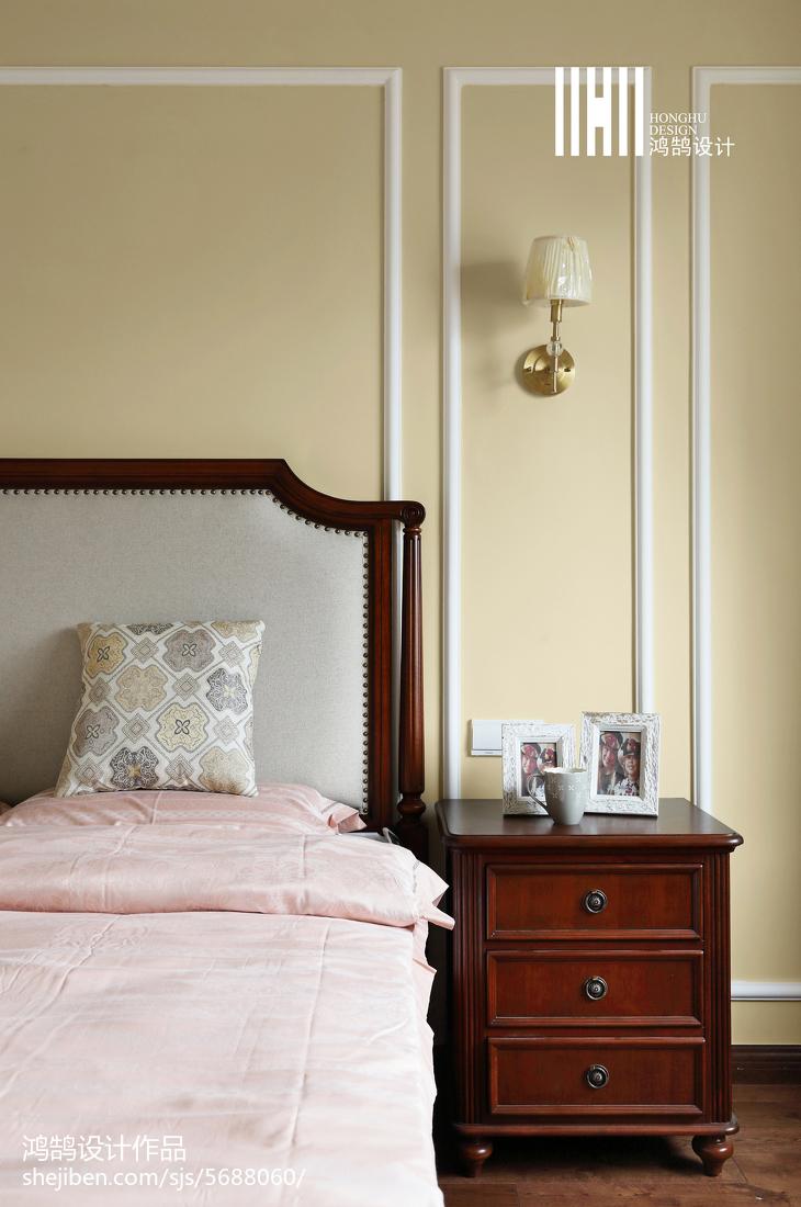 精选面积101平美式三居卧室实景图