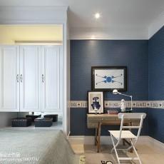 精选面积98平现代三居卧室装修实景图