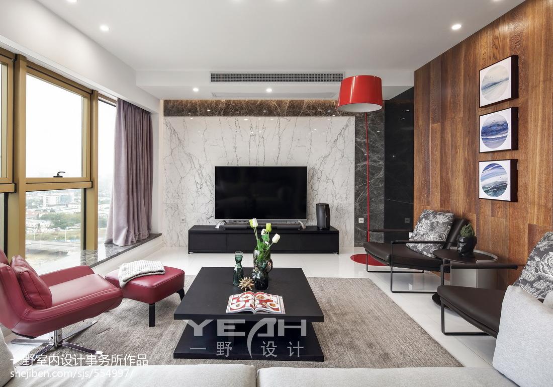 现代风格二居室背景墙设计案例