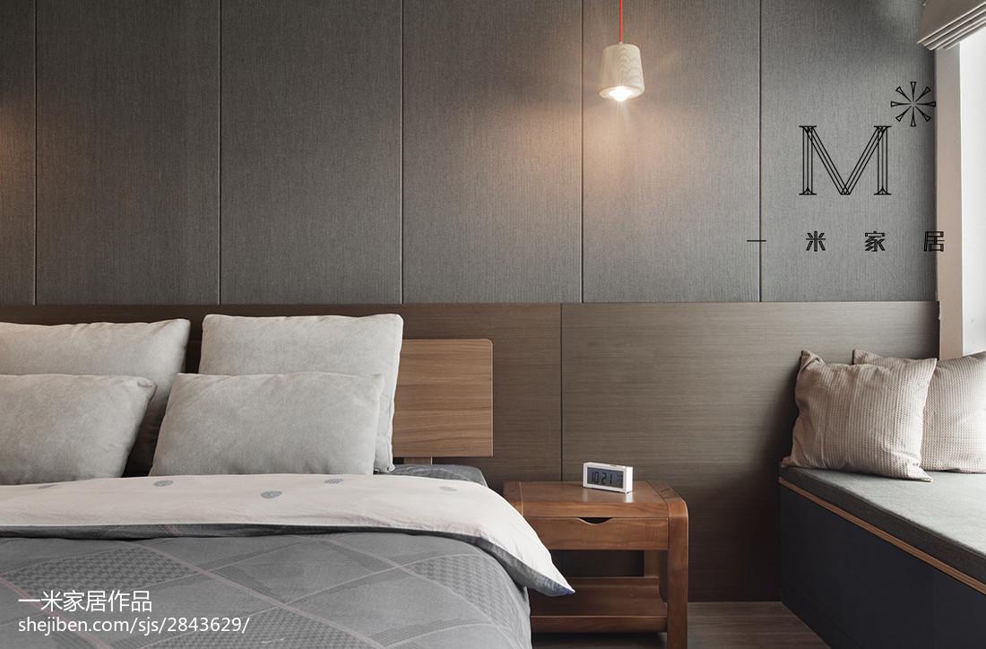 2018精选103平米三居卧室北欧装修效果图片