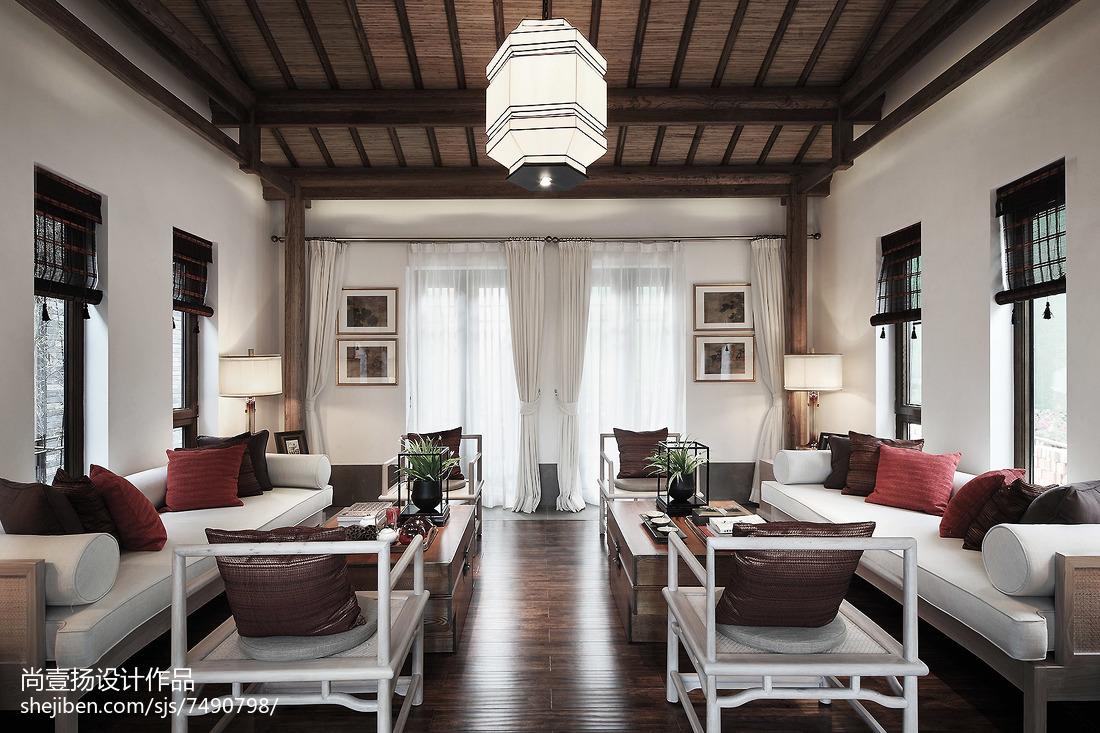 热门143平米中式别墅客厅装饰图