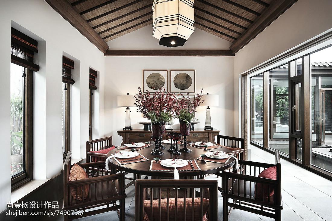 2018精选140平米中式别墅餐厅欣赏图