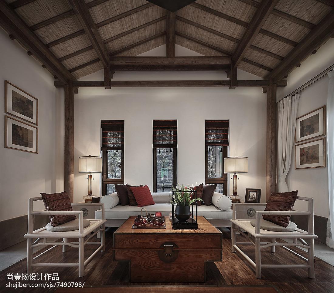 精选131平方中式别墅客厅装修图片欣赏