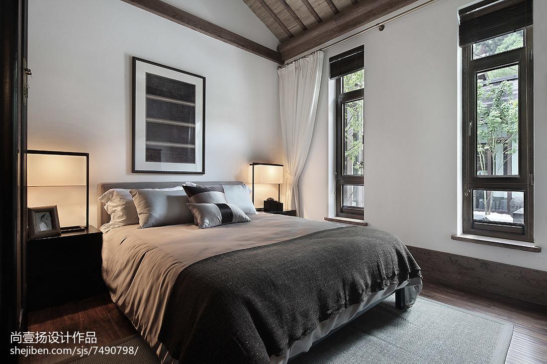 精选118平米中式别墅卧室装修欣赏图