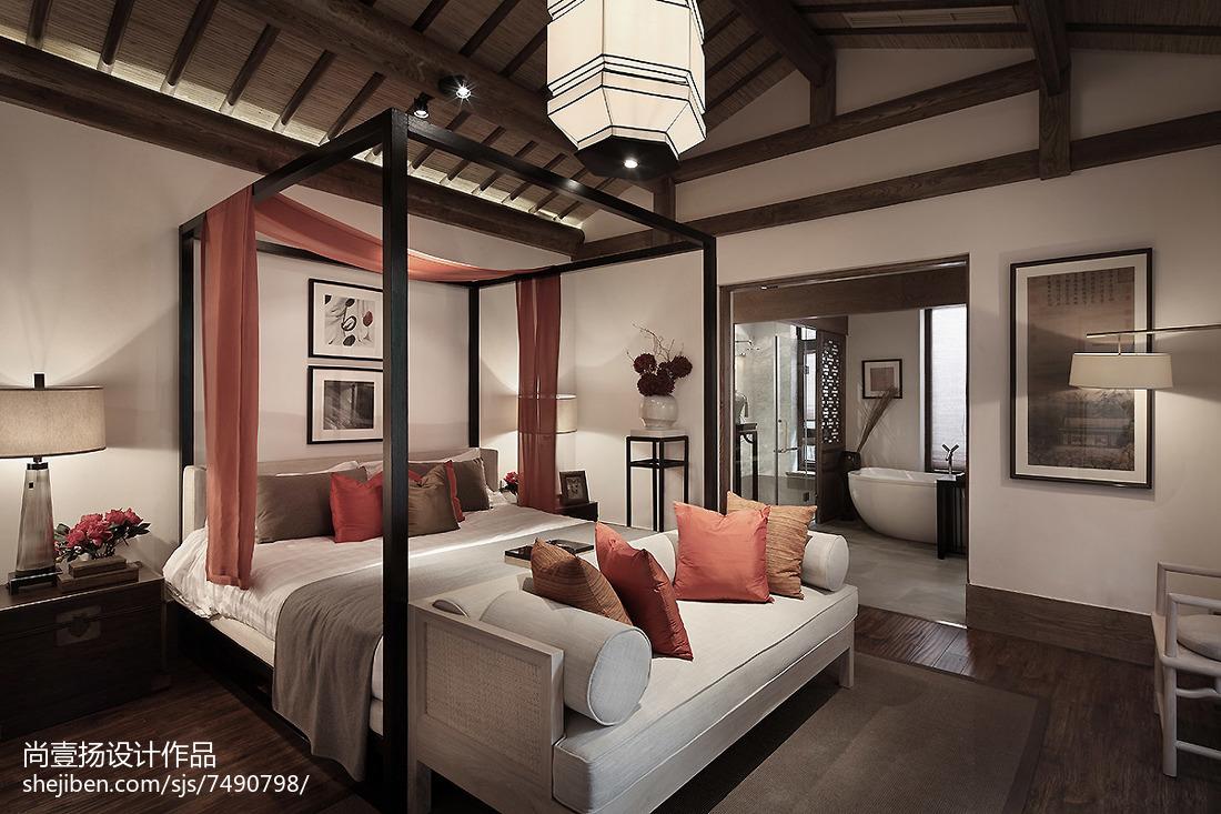精选123平米中式别墅卧室装修图片欣赏