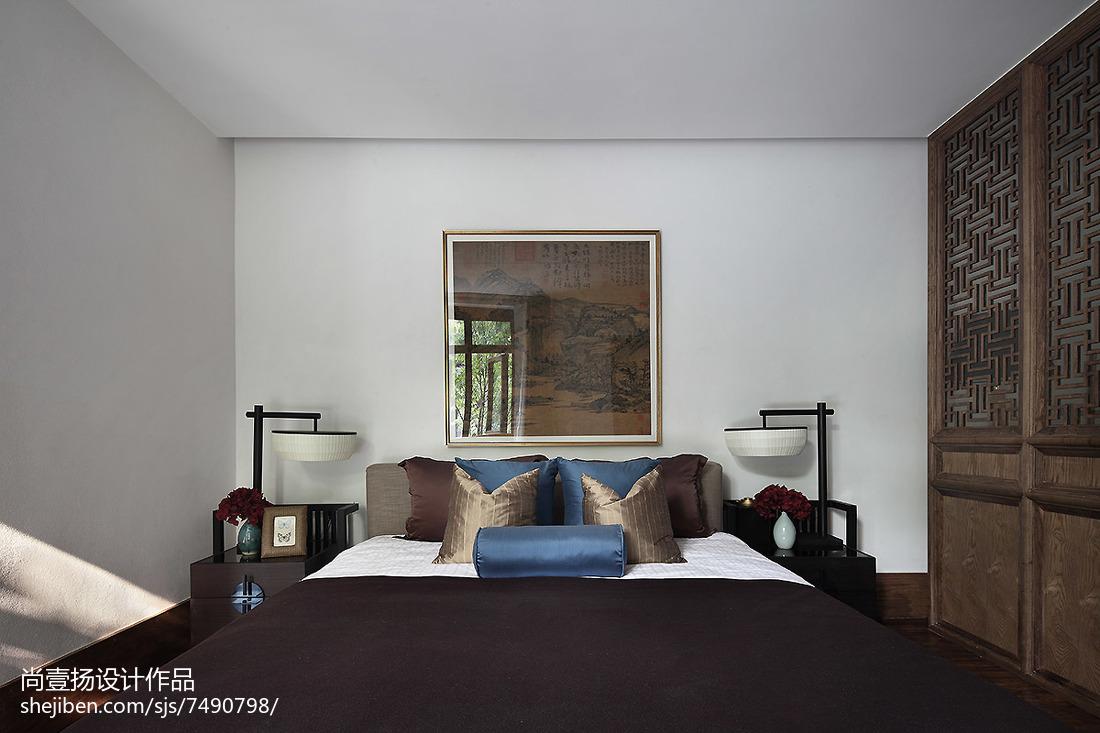 精美126平方中式别墅卧室装修实景图片欣赏