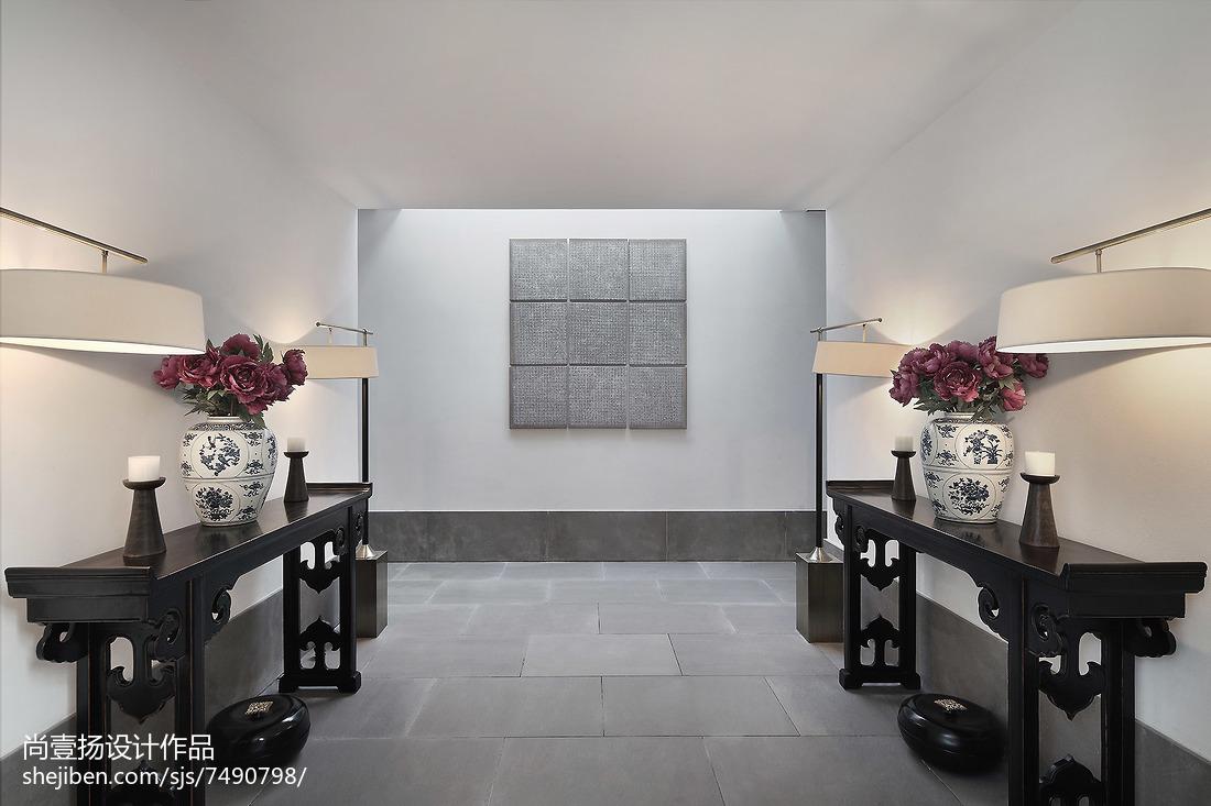中式别墅过道装修设计效果图片欣赏