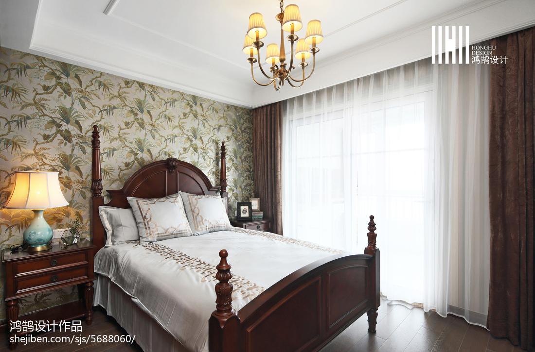 124平米四居卧室美式效果图片欣赏