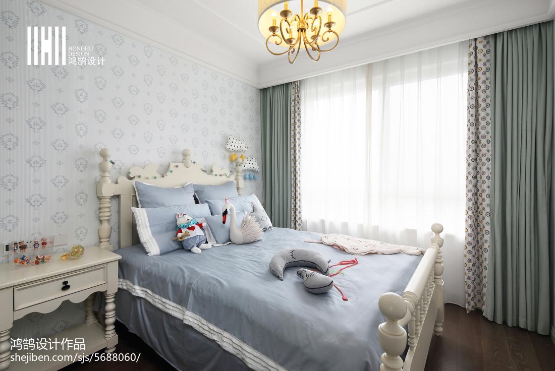 精选138平米四居卧室美式实景图片欣赏