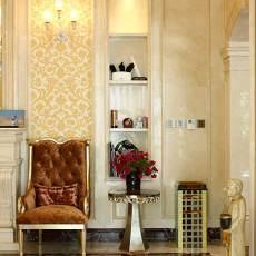 热门面积126平别墅客厅欧式装修效果图片欣赏