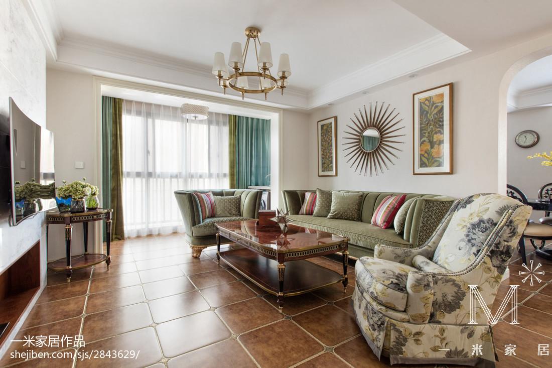 精选97平米三居客厅欧式实景图片