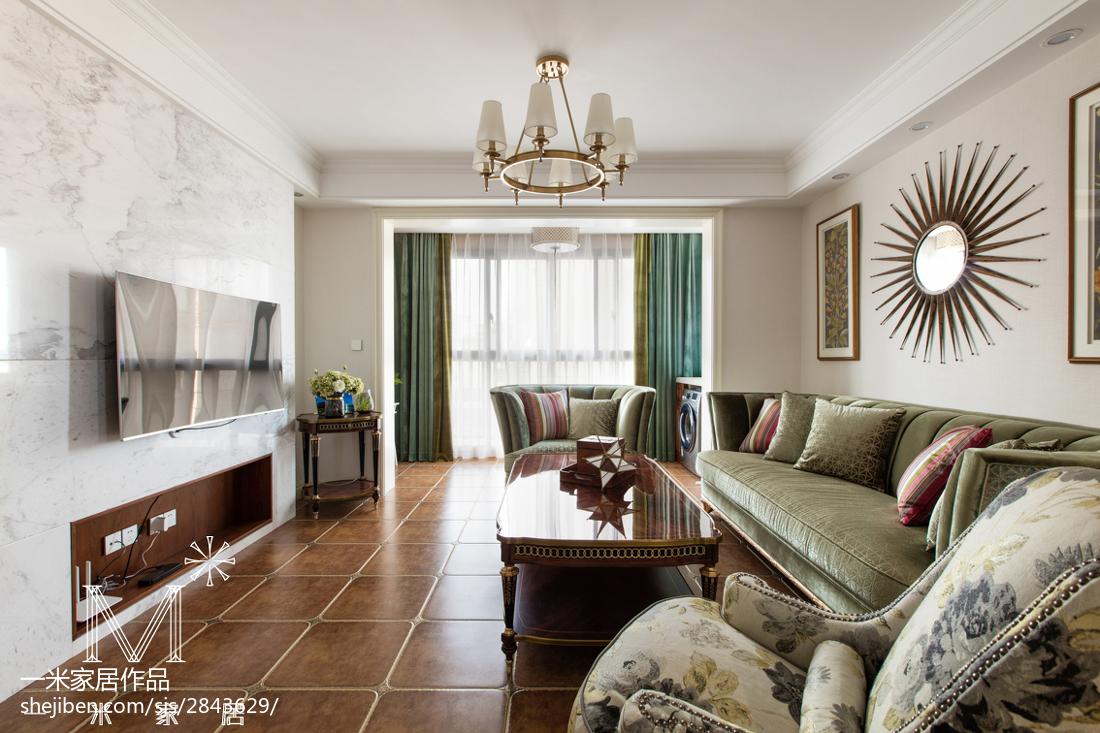 2018109平方三居客厅欧式装饰图片大全