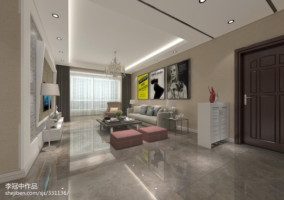 家装简约时尚风客厅设计