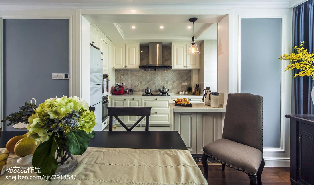 2018精选面积106平美式三居厨房装修效果图片
