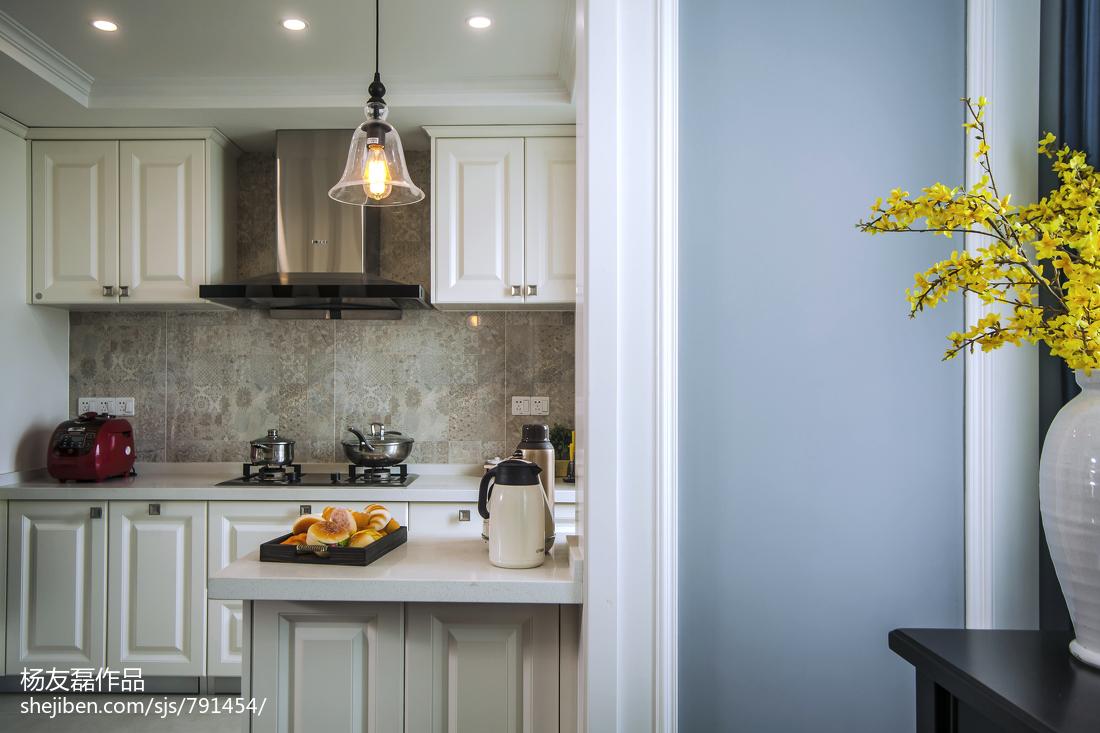 108平米三居厨房美式装饰图