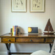 面积90平美式三居书房设计效果图