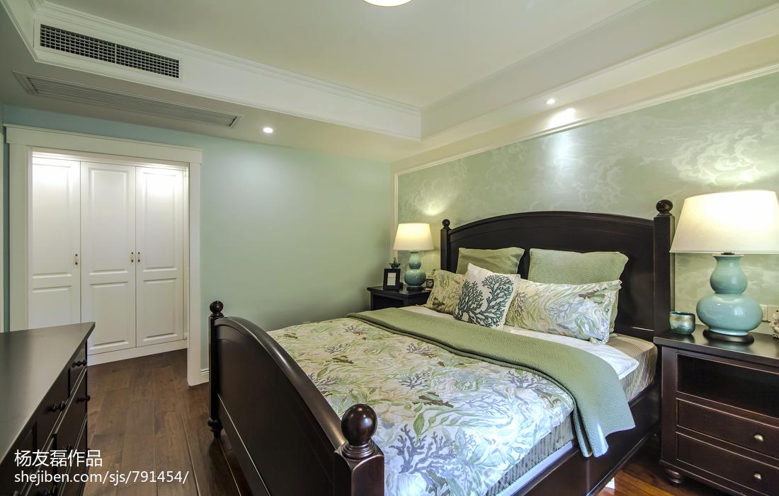精选103平米三居卧室美式装修欣赏图