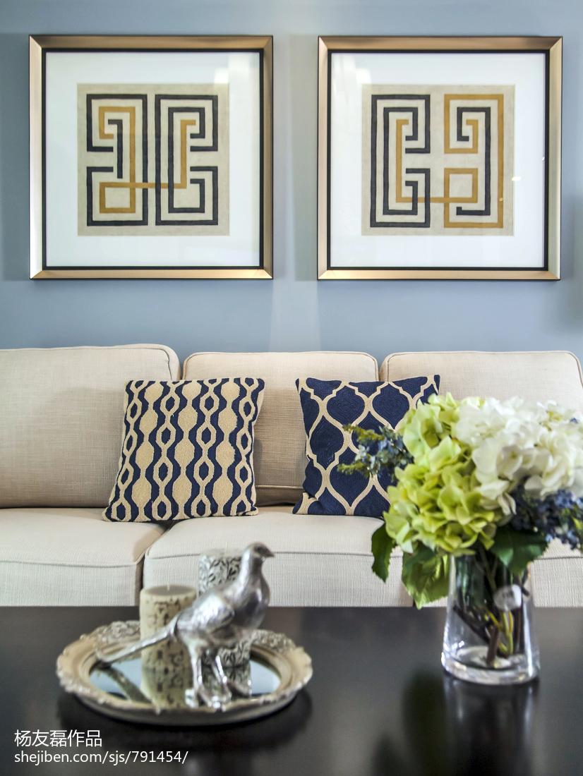 2018108平米三居客厅美式装修设计效果图片