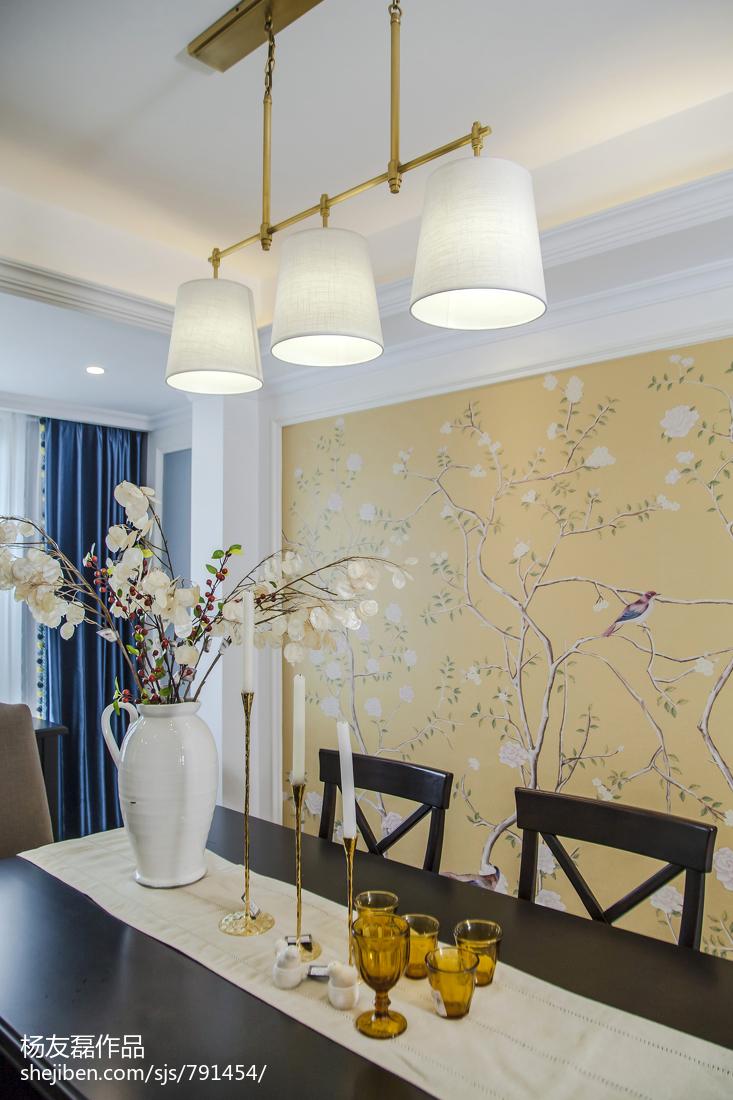 精美面积102平美式三居餐厅装修效果图片