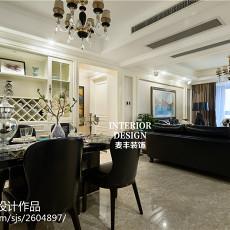 精美103平米三居餐厅新古典欣赏图片