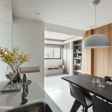 热门107平方三居餐厅现代装修设计效果图片