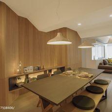 2018精选面积101平现代三居餐厅效果图片欣赏