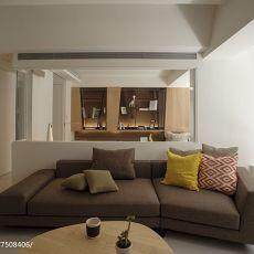 2018105平米三居客厅现代实景图片大全