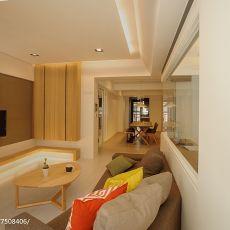精选面积95平现代三居客厅装修实景图