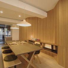 简洁105平现代三居餐厅图片大全
