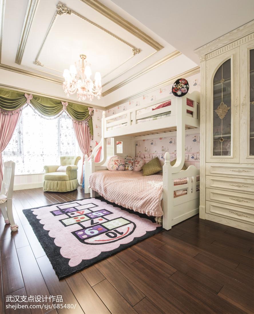 粉色系欧式风格儿童房装修