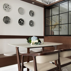 2018精选面积105平现代三居餐厅效果图片欣赏