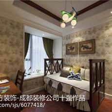 面积134平东南亚四居书房装修欣赏图片
