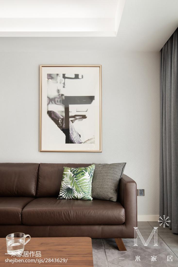 明亮100平现代三居客厅装潢图