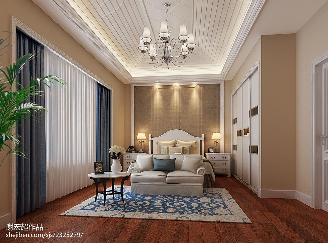 绮丽创意新古典风卧室装修效果图